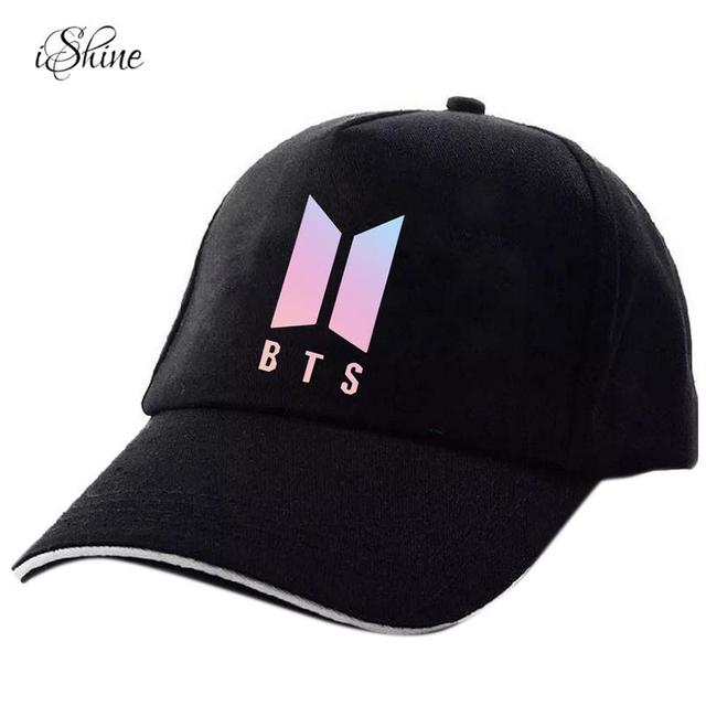 6714705cf97 Women Men Snapback Hats BTS print Fashion Cricket Cap Hats Adjustable Baseball  Cap Bulletproof Young Age Group SUGA Airport Hat