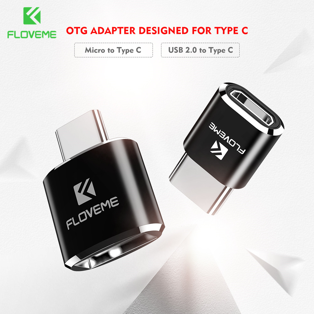 FLOVEME Micro USB OTG Type C Adapter USB Female To Type-C Male Adapter Converter For Samsung S8 MacBook OnePlus OTG USB Charger
