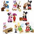 LELE 37005 Super Heroes Marvel Cartoon Mickey Minnie Donald Duck Daisy Tinker Bell Ladrillos Bloques de Construcción de Juguetes de Los Niños