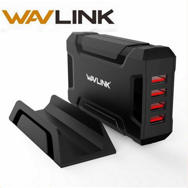 Wavlink 4 port USB Charger Travel Adapter Universal 35W 2.4A Wall Charger Fast Mobile Phone for iPhone Samsung Xiaomi Tablet