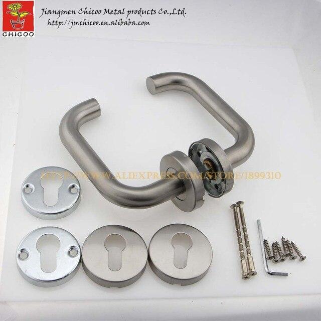 2 ensembles en acier inoxydable tube levier poignes porte levier poigne porte intrieure poigne