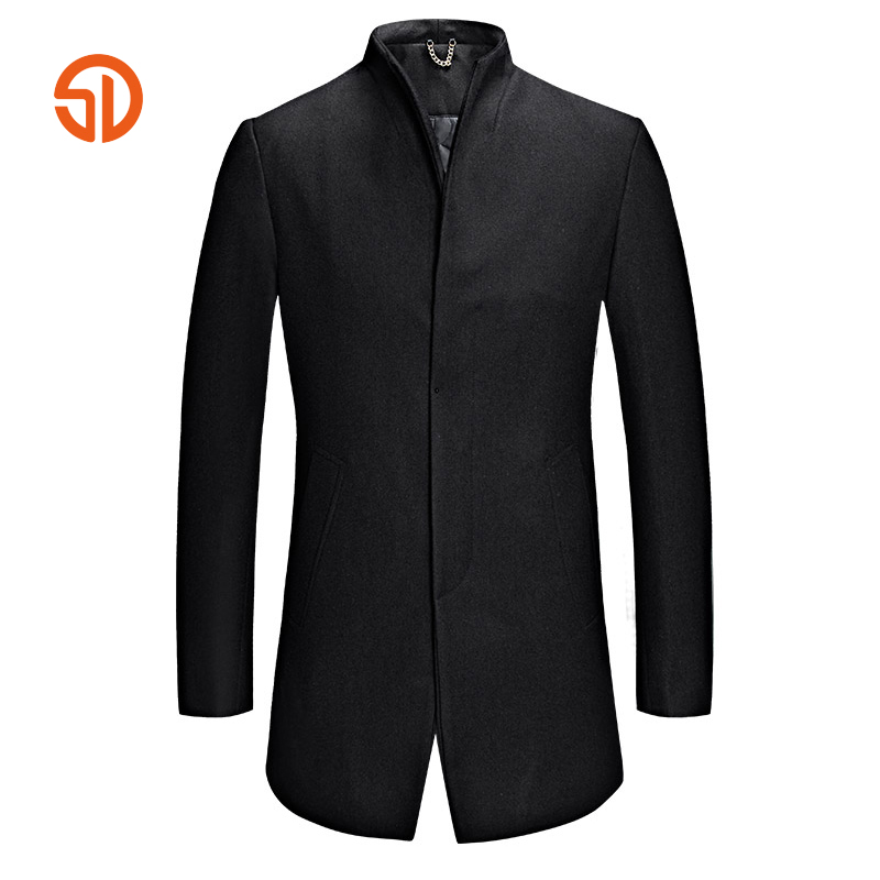 Brand Clothing Men 2018 Spring Autumn Fashion Wool Coat Male Overcoats XXXL Casual Suit Riding Shorts Jacket Plus Size M-3XL