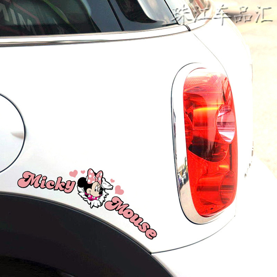 Image 2 - Pink Cartoon KitCar Stickers And Decals For Door Mirror Window Body Interior OCT 40-in Car Stickers from Automobiles & Motorcycles