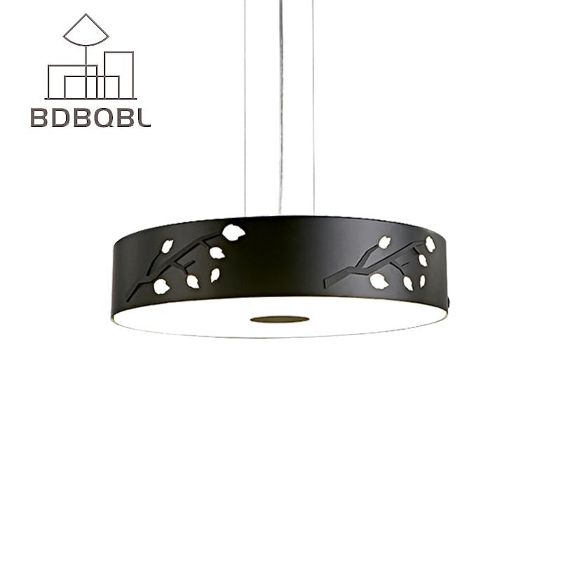 BDBQBL Modern Iron LED Pendant Light for Aisle Porch Hallway Stairs Ring Dining Room Famous Design Pendant Lamp White/Black