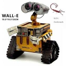 Wall e Robot Movie modello in acciaio laminato a Freddo del Metallo Action Figure Toy Doll robote artigianato Fatti A Mano giocattoli figuras Scarafaggio wall-e