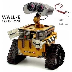 Image 1 - ウォール e ロボット映画モデル冷間圧延鋼金属アクションフィギュア玩具人形 robote 手作り工芸品 juguetes figuras ゴキブリ壁 e