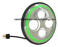 Бесплатная доставка зеленый гало IP67 30 Вт 7 дюймов автозапчастей рынок мычка лица OSROM из светодиодов с низким и высоким луч света с DRL оптовая