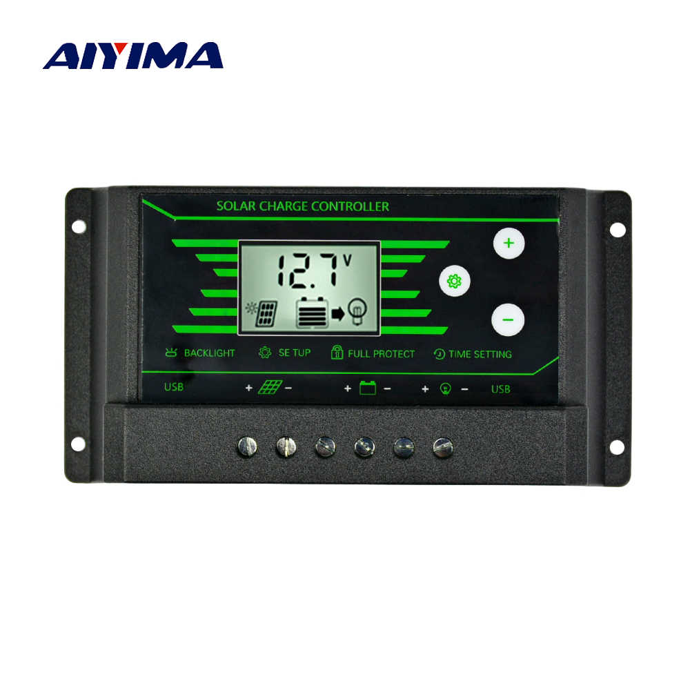 Detail Feedback Questions About Aiyima 50a 12v 24v Lcd Solar Charge Pwm Dc Voltage Regulator Circuit Smart Controller 30a Backlight With Dual Usb 5v New