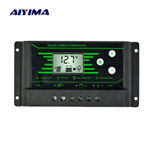 AIYIMA 12V 24V PWM Solar Controller Backlight LCD Solar Charge Controller with Dual USB 5V New Design 10A 20A 30A Solar Energy