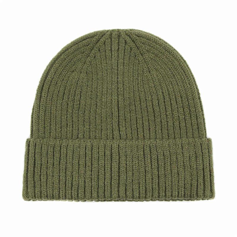 f9f396e0b74 ... Winter Beanies Hats Men Women Solid Knitted Skullies Cap Female Male  Black Hat ...
