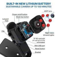 Мини-камера SQ11 с HD 1080P DV мини-видеокамеры Спортивная камера Автомобильный видеорегистратор с функцией ночного видения видео диктофон микро ... 4