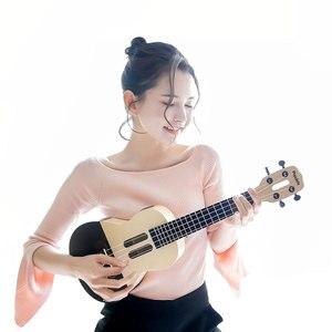 Image 5 - U1 ukelele de 23 pulgadas con 4 cuerdas, guitarra eléctrica acústica inteligente con aplicación Xiaomi, IOS, Android, hawaiana