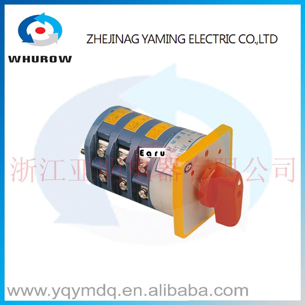 LW5-40 5.5N/3 High quality dc voltage automatic electrical changeover rotary cam switch three poles 40A sliver point contacts 660v ui 10a ith 8 terminals rotary cam universal changeover combination switch