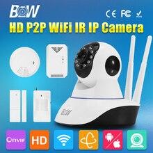 BW Wireless Wifi Camera 720P HD CCTV P2P Security IP Infrared IR P/T Network Onvif Indoor Surveillance Camera Gsm Alarm System