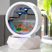 Европейский Керамика s фонтан мебели Керамика аквариум для Гостиная офис украшения повезло Fortune Стекло Fish Tank
