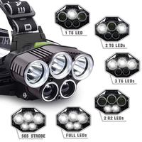 Led searchlight T6+LTS glare outdoor search night work led headlights night fishing hunting camping lights rechargeable battery