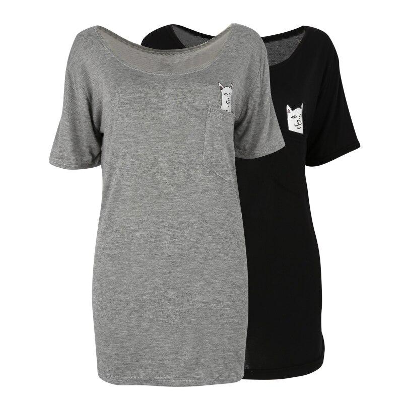 Popular cat pocket shirt buy cheap cat pocket shirt lots for Bulk pocket t shirts