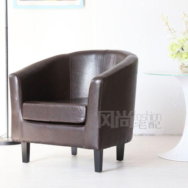 Fashion Simple U Shaped Leather Small Sofa Small Apartment Ikea Single Sofa  Fabric Sofa Office