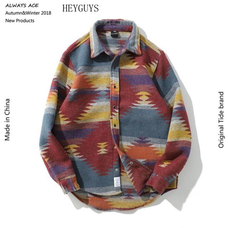 Chemisier Chemises En Japonais Gris Laine Robe Hommes rouge Flanelle Chemise Cru 2019 Folk Loisirs Décontracté Motif chemises Pour Streetwear De qadqSwp