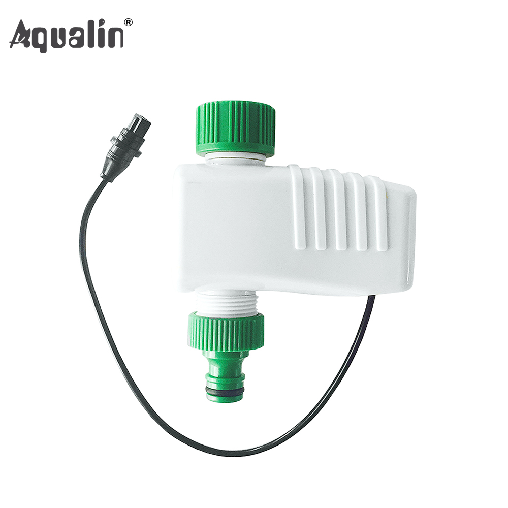 Aqualin Solenoid Valve Garden Water Timer Used 4-Zone Smart