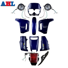 цены for Honda NX250 AX-1 AX1 AX 1 Sports Traverse Blue New ABS Plastic Fairing Cowl Bodywork With Head Light Taillight Lamps Kit Set