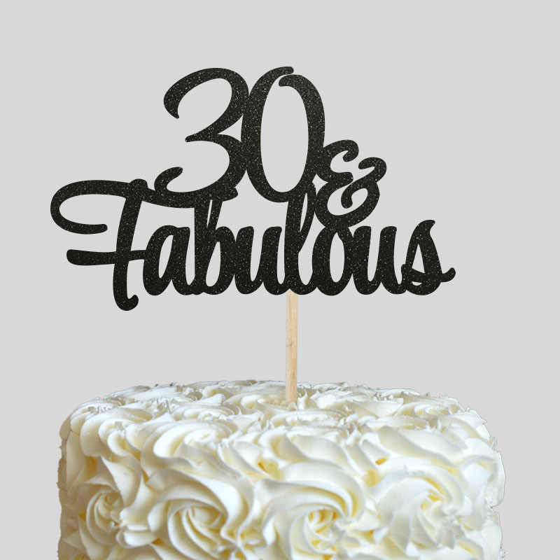 Pleasant 30 Fabulous Cake Topper Glitter 30Th Birthday Decorations Thirty Personalised Birthday Cards Cominlily Jamesorg