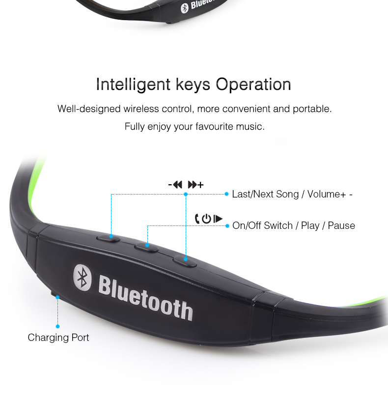 Wireless Bluetooth Earphones with Microphone Neckband Headphones for Mobile Phone Sweatproof Bluetooth Headset for Xiaomi iPhone (6)