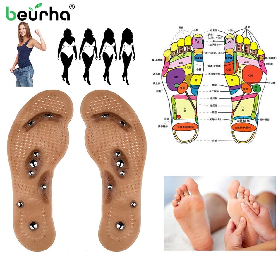 Körper Detox Abnehmen Magnetische Fuß Akupunktur Punkt Therapie Einlegesohle Kissen Massager Acupunctura Schuh Pads Therapie Haut Pflege Werkzeuge