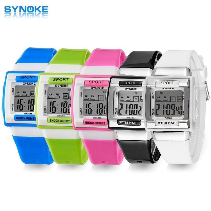 SYNOKE Kids Electronic Wrist Watch Digital Montre Enfant Shockproof Waterproof Children's Watches For Boys Girls Kid Shock Clock