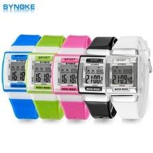 Купить с кэшбэком SYNOKE Kids Electronic Wrist Watch Digital Montre Enfant Shockproof Waterproof Children's Watches for Boys Girls Kid Shock Clock