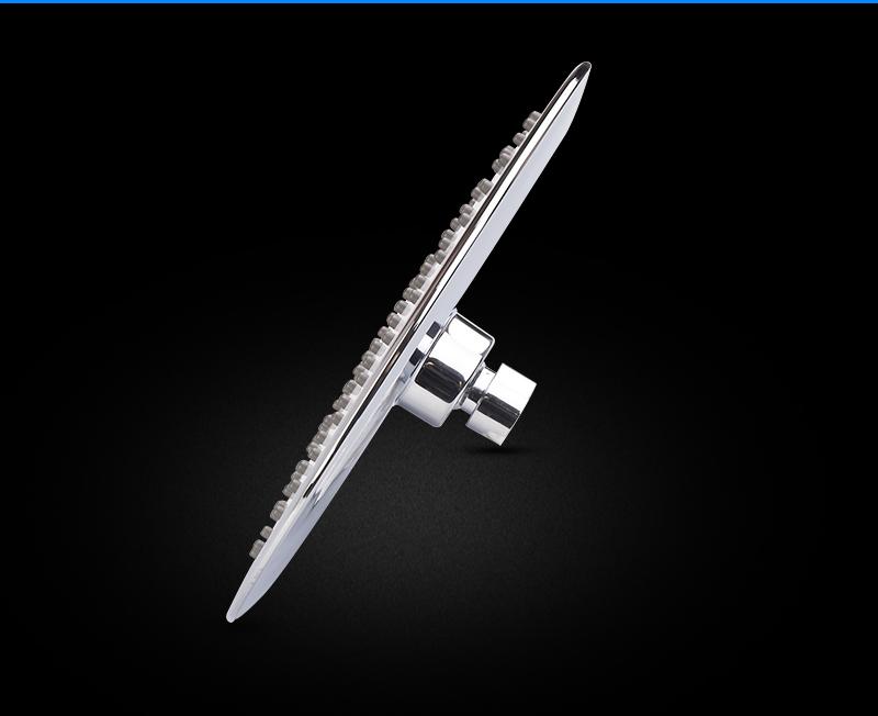UFO Shower Head Showerhead Body Sprays Shower Head Round 8 Inch Ultra-Thin 2mm Bathroom Rain Shower Heads (14)