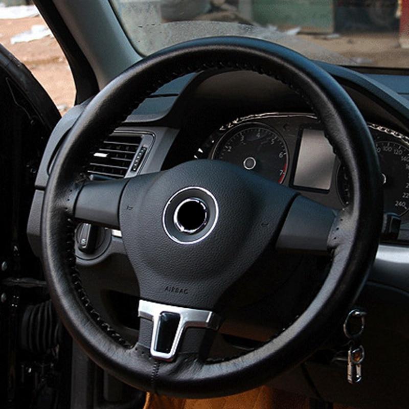 Sewing Diy steering wheel cover 39/40CM For Mercedes E GLK Volkswagen VW Santana Mitsubishi Pajero BMW 7 series Chevrolet Epica