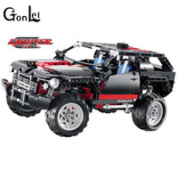 GonLeI 3341 Land Cruiser LC200 Blocks Brain Game SUV Assembling Toys Self Locking Bricks Car