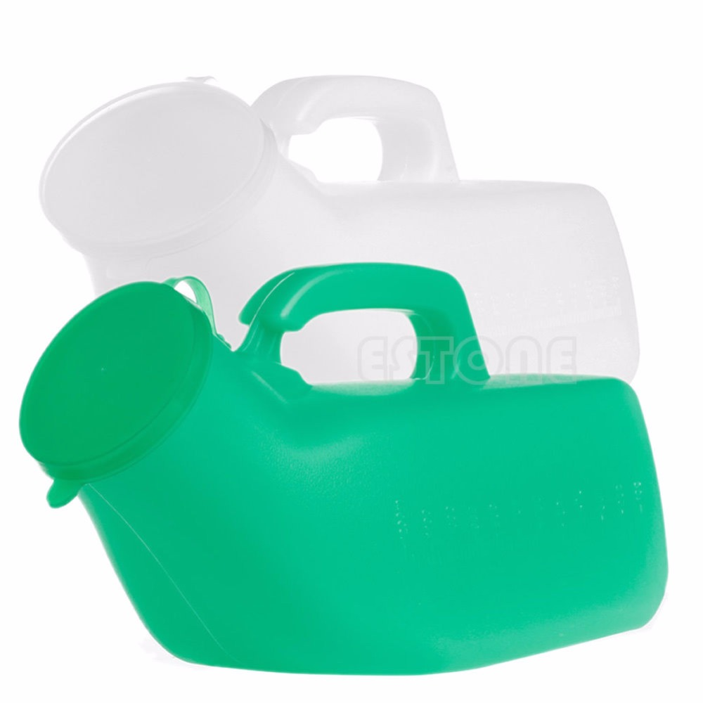 Male Kit Urinal Bottle /& Lid Large 1000ML Portable Car//Camping//Travel//Bed Urine Pot Toilet Medical urinal With Lid