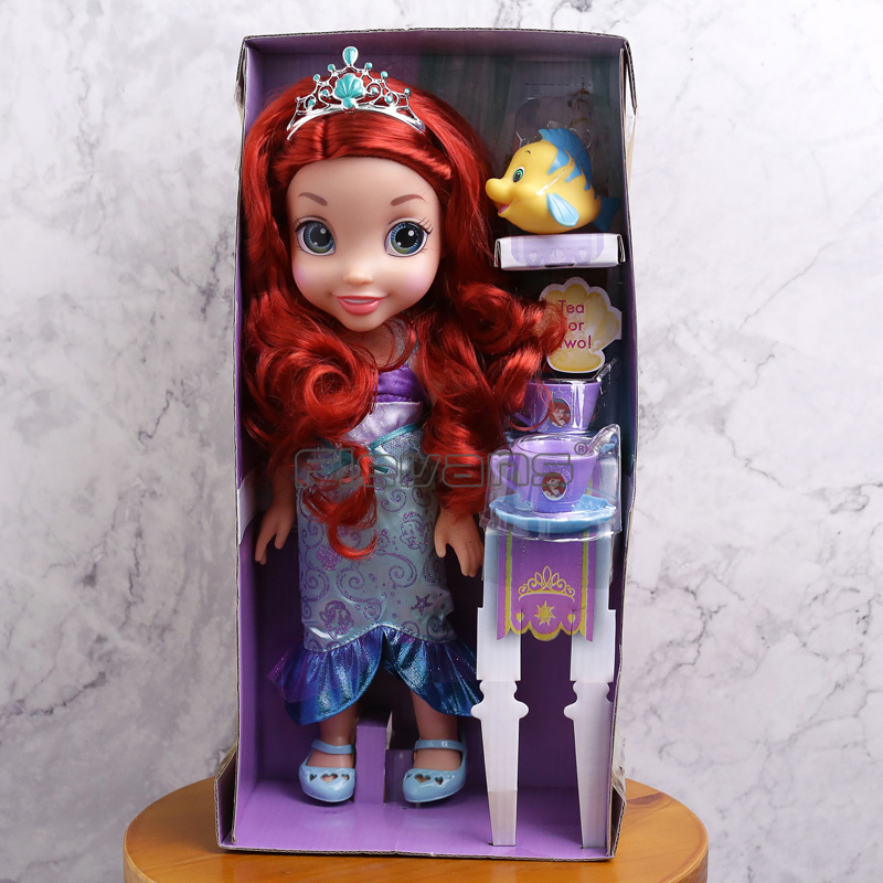 Princess Ariel The Little Mermaid PVC Figure Model Doll Toy Gift for Girls disney 10cm q version snow white princess alice mermaid figure alice in wonderland ariel the little mermaid pvc figure model toy