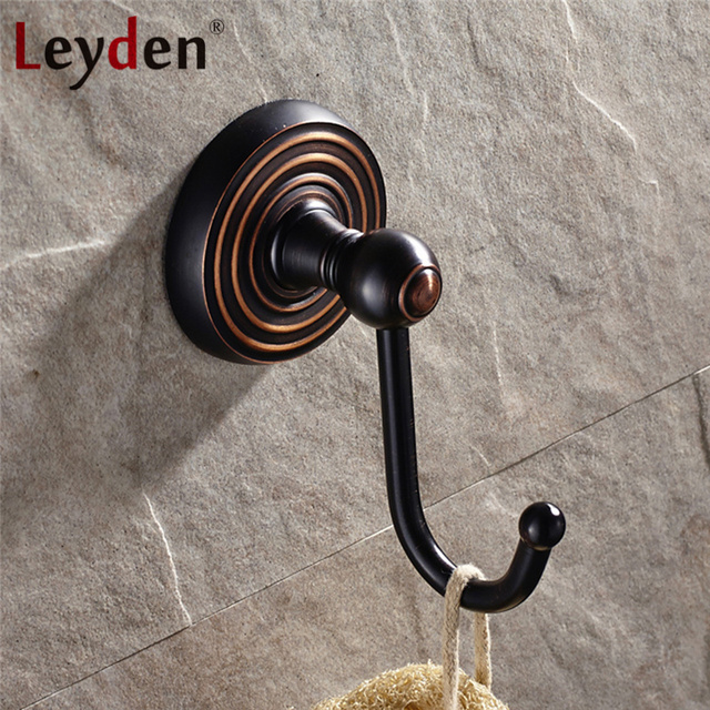Leyden Solid Br Oil Rubbed Bronze Finish Bathroom Hangings Wall Mounted Clothes Hook Robe Hanger