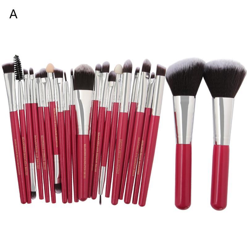 MAANGE Beauty 22pcs makeup brushes set professional Powder Foundation Eyeshadow Eyeliner Lip Cosmetic Brush         dec6 maange 22pcs cosmetic makeup brushes set