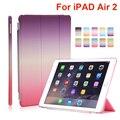 Для Apple iPad Air 2 Tablet Cover Case Высокое Качество сна/пробуждение up Кожа PU Смарт Чехол для Ipad 6 Tablet чехол + Экран Пленка + Ручка