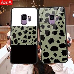 Чехол из закаленного стекла с леопардовым принтом для Samsung Galaxy A30 A40 A50 A70 M10 M20 J4 J6 J5 J7 2017 A6 A7 A8 A9 2018 S8 S9 S10 Plus, чехол
