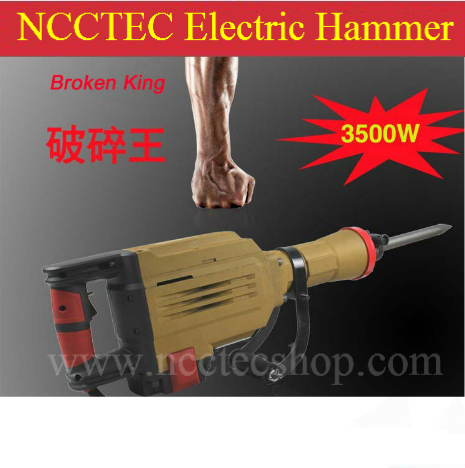 US $524 67 |Electric destructor pick breaker hammer | Demolition hammer for  breaking and Dismantle CONCRETE floor road wall | 3500w 62J-in Electric