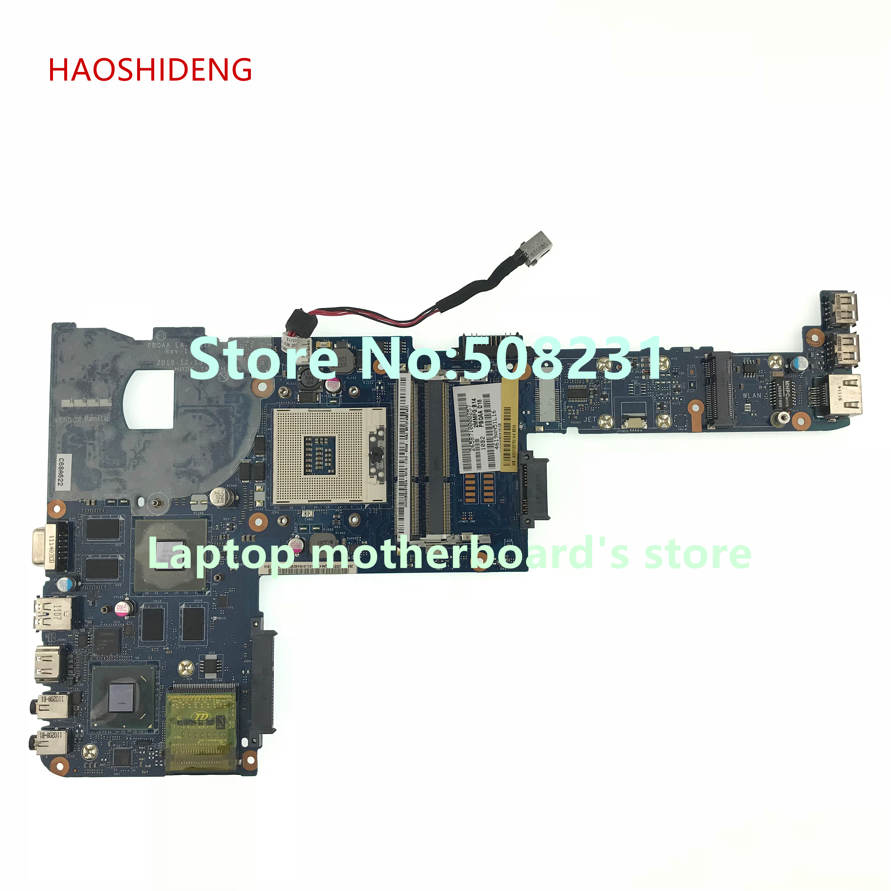 HAOSHIDENG PBQAA LA-7101P K000125750 for toshiba satellite P700 P745 Laptop motherboard HM65 with GeForce GT525M цена