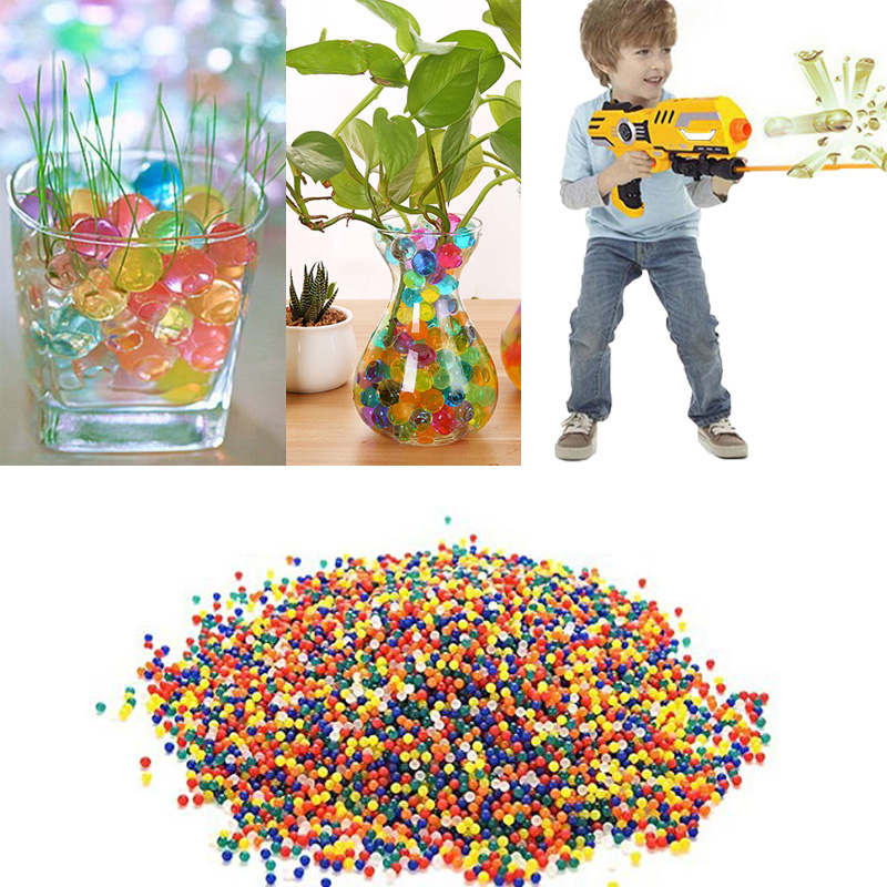20000 Pcs/box Water Gun Bullet Seven Multi Colors Soft Crystal Water Paintball Bullet Grow Water Beads Balls Water Toy #2