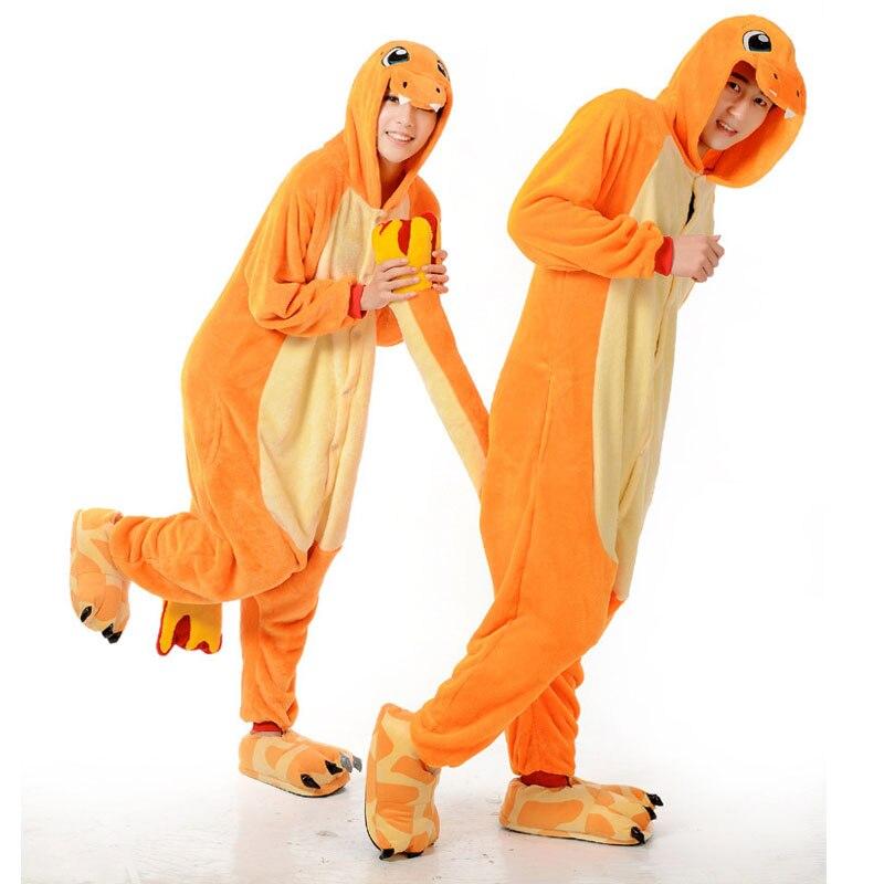 Pop pijamas anime Pokemon charmander Pokemon unisex niños animal onesies  dragón de fuego Cosplay disfraces pijamas adulto onesie 2177c4c27886