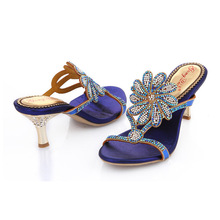 Women's High Heels Stiletto Large Ladies Shoes Size 10 Womens Open Toe Sandals Fashion Casual Slippers Gold Blue