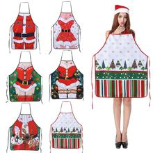 Christmas Kitchen Aprons for Woman Xmas Decoration Aprons for Adults Women Men Dinner Party Cooking Apron Baking Accessories