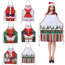 Di natale Grembiuli Da Cucina per la Donna Decorazione di Natale Grembiuli per Adulti Delle Donne Degli Uomini Del Partito di Pranzo Grembiule da Cucina di Cottura Accessori