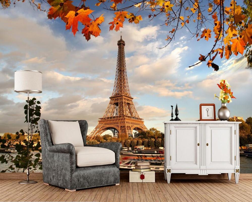 Papel de parede France Autumn Eiffel Tower Paris Cities photo a href=