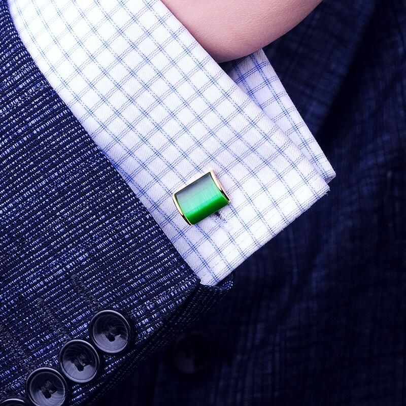 KFLK Schmuck Shirt Manschettenknopf für Herren Brand Green Cuff Link - Modeschmuck - Foto 6