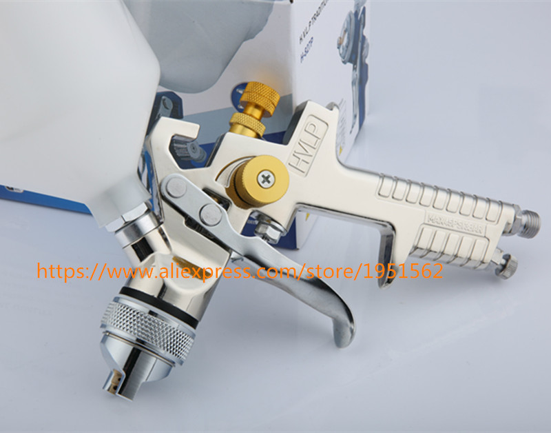 Фотография SPRAY GUN H.V.L.P H827 nickel-plated automobile furniture environmental spray gun high atomization paint primer gun