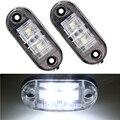 12 v 24 v 2 pcs led lado marcador de luz do lado do carro universal luzes apuramento Lâmpada para caminhões de Reboque Vermelho luzes led apuramento âmbar
